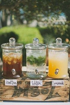backyard themed wedding drink ideas