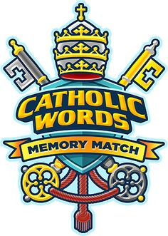 catholic words memory match card game