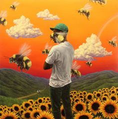 A fantastic poster of Hip Hop wunderkind Tyler, the Creator! The album cover art from his Flower Boy LP. Need Poster Mounts. Rap Album Covers, Iconic Album Covers, Music Covers, Box Covers, The Who Album Covers, Drake Album Cover, Music Cover Photos, Collage Des Photos, Photo Wall Collage
