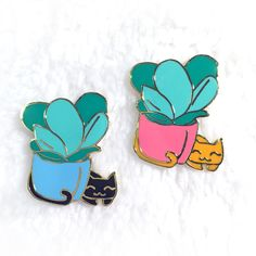 Cat Enamel Pin by LittleWhiteOctopus on Etsy