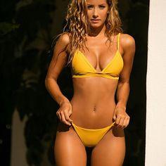 Six string bikini top