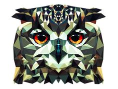geometric owl. Love the simplicity of the shapes that make up this detailed image