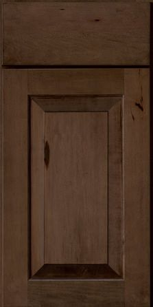 For slab drawer with shaker cabinet design Door Detail - Square Raised Panel - Solid Rustic Maple in Saddle - KraftMaid Cabinetry Kraftmaid Cabinets, Alder Cabinets, Shaker Cabinets, Bathroom Cabinetry, Wood Bathroom, Kitchen Cabinets, Maple Kitchen, Rustic Kitchen, Kitchen Ideas