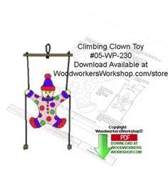 05-WP-230 - Climbing Clown Toy Downloadable Yard Art Woodcraft Pattern PDF