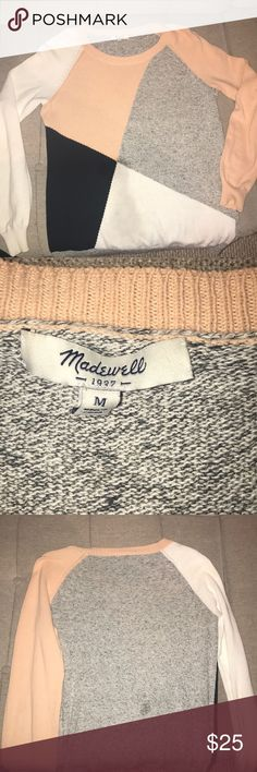 Madewell color block sweater A very comfortable and cute oversized sweater with color blocking Madewell Sweaters