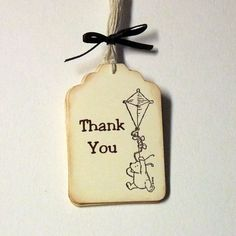 Winnie the Pooh Thank You Tags by PrettyPaperCottage on Etsy, $8.00