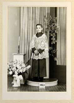 "Altar Boy Photograph 1953 Chicago Illinois 5 x 7"" in Studio Folder 17831"