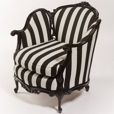 Black and White Side Chair