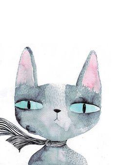 gato con pañuelo