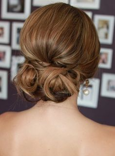 cute low curly bun
