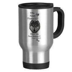 Who Needs Diamonds Collection 15 Oz Stainless Steel Travel Mug