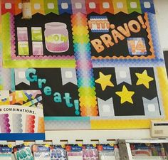 The other half of Jonathan's Educational Resources' (Tucson, AZ) colorful Painted Palette bulletin board display!