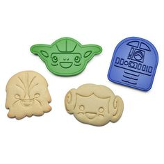 Star Wars Rebel Friends Cookie Cutters ($9.99) ❤ liked on Polyvore featuring home, kitchen & dining, kitchen gadgets & tools, thinkgeek and star wars cookie cutters