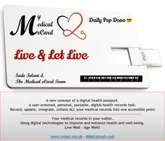 Live ......  Daily Pep Dose from My Medical eCard.  Follow us and share our Pep Doses.   www.mmec.me.uk   Sadé Tolani