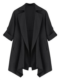 Trendy Casual Long Sleeve Lapel Solid Color Jacket For Women Online - NewChic