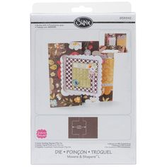 Sizzix Movers & Shapers Large Base Die - Card, Scallop Square Flip-Its - Click to enlarge