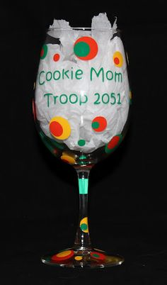 Cookie Mom, Troop Mom, Girl Scout or Brownie Mom...This is a perfect way to show a Troop Leader Appreciation.You can fill it with candies or a gift card for a bottle of wine! $10