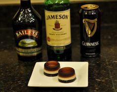 Irish Car Bomb Jello Shots!  Omg I need to make them for St. Patrick's day parade!!!!!