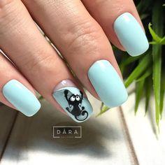 Cat Nail Art, Animal Nail Art, Bunny Nails, Cat Nails, Stylish Nails, Trendy Nails, Cat Nail Designs, Vogue Nails, Gel Nail Tips