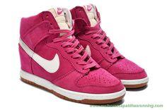 sapatilhas running Nike Dunk SB Sky Hi 8091010-478 Suede Wedge Rosa/Branco Mulheres