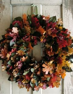 preserved oakleaf wreath by Circle Home and Design