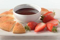 Kijk wat een lekker recept ik heb gevonden op Allerhande! Chocoladedip met aardbeien