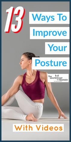 Learn how to improve your posture using these proven methods. These posture correction exercises can be done from home to fix neck, back, and shoulder pain. Learn more now. Fix Your Posture, Bad Posture, Improve Posture, Posture Correction Exercises, Posture Exercises, Stretches, Workout Plan For Beginners, Workout Guide, Workout Plans