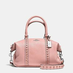 Coach - Central Satchel in Lacquer Rivets Pebble Leather