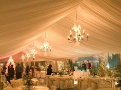 Chandaliers for a wedding