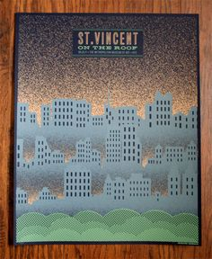 St Vincent by HERO. See more great gig posters here: http://www.creativebloq.com/design/gig-posters-912720
