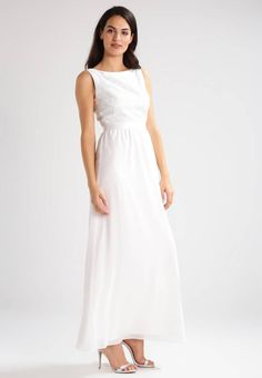 """Occasion wear - creme/silbergrau. Fabric:Lace. Details:bust darts,slip. Neckline:Boat neck. Sleeve length:sleeveless. Our model's height:Our model is 70.5 """" tall and is wearing size 10. Lining:97% polyester, 3% spandex. Outer fabri..."""
