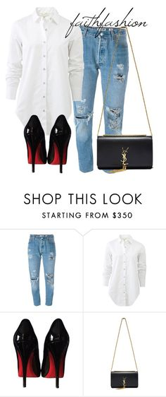 """Untitled #350"" by faithfashionash on Polyvore featuring Levi's, rag & bone, Christian Louboutin and Yves Saint Laurent"