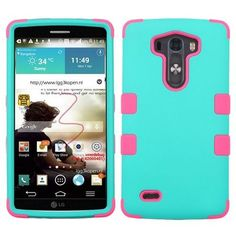 NEW * FOR LG G3 PHONE TEAL GREEN MIX TUFF HYBRID RUBBERIZED SKIN COVER CASE #9
