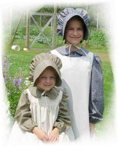 Girls & Ladies Bonnet Patterns ~ Modest & Simple Sewing Patterns by The Kings Daughters