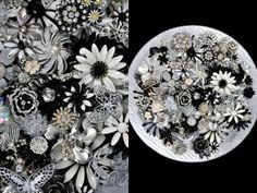 Or for something a little different, a B&W DIY brooch bouquet