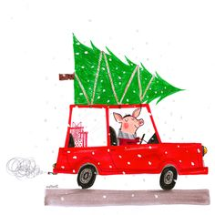 Holiday illustration by Alex T. Smith.