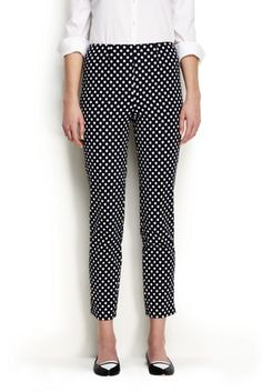 Women's Mid Rise Pattern Bi-Stretch Capri Pants from Lands' End