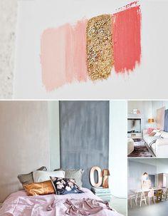 Copper and blush colour trend. http://jumbledonline.com/wp-content/uploads/2013/06/pastels-copper-interiors.jpeg