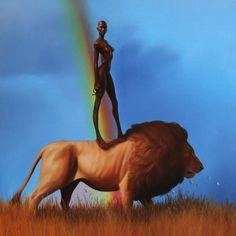 """""""Lioness"""" by Kadir Nelson. SMH…Kadir always makes such great artwork and is an…"""