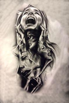 Dark Art Drawings, Pencil Art Drawings, Art Drawings Sketches, Tattoo Week, Los Muertos Tattoo, Gothic Fantasy Art, Sad Art, Digital Art Girl, Aesthetic Drawing