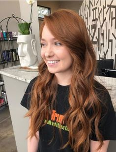 Brunette Balayage for Thick Hair - 50 Cute Long Layered Haircuts with Bangs 2019 - The Trending Hairstyle Party Hairstyles For Long Hair, Face Shape Hairstyles, Strawberry Red Hair, Layered Haircuts With Bangs, Bronze Hair, Natural Red Hair, Balayage Brunette, Auburn Hair, Ginger Hair