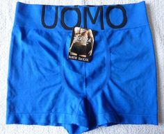 Boxer Homme caleçon short lingerie Bleu taille XL/XXL (40) neuf  bixtra UOMO