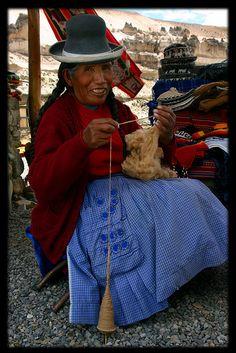 Spinning Yarn - Peru