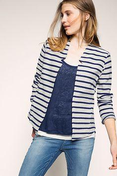 Esprit - sweatshirt cardigan in 100% cotton at our Online Shop