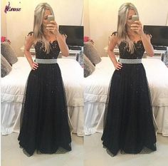The long prom dresses are fully lined, 8 bones in the bodice, chest pad in the bust, lace up back or zipper back are all available, total 126 colors are available. This dress could be custom made, the