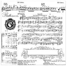 Clear stamp set Sheet music by DIYwinkel on Etsy
