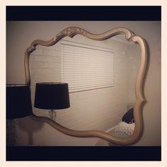 Repainted Mirror With Martha Stewart Paint #marthastewart