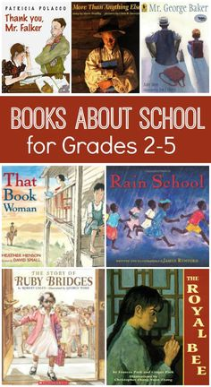 Books About School for Grades 2-5...great read alouds for back to school