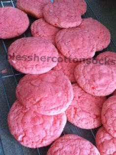 Bless Her Cotton Socks: Strawberry Cake Cookie Recipe