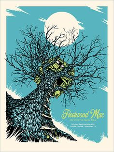Fleetwood Mac by Billy Perkins Tour Posters, Band Posters, Music Posters, Concert Posters, Gig Poster, Poster Prints, Toyota Center, Conceptual Drawing, Project 4
